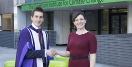 Alistair McVicar, Analyst at Accenture UK and Eleanor Saunders, Deputy Education Director, Climate-KIC on Alistair's PhD graduation day in April 2013