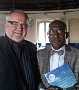AU Commissioner Dr. Ikounga and Andreas Moegelin, Communication Manager at the German Climate-KIC Centre