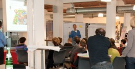 Brainstorming in progress at the 2013 Open Innovation Slam in Berlin