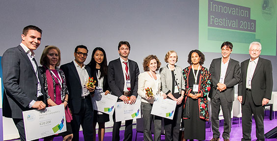 The winning entrepreneurs were awarded their prizes in Wroclaw, Poland