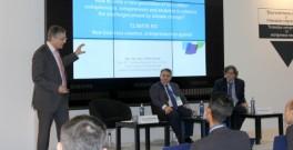 Jose Luis Muñoz, co-director of Climate-KIC's regional centre in Valencia, speaks at Transfiere Forum in Malaga