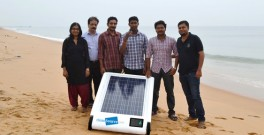 Desolenator creates clean water from salt water using sunlight.