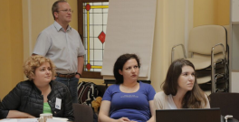 Cristina Badulescu (left) at Climate-KIC's Romanian boot camp in May.