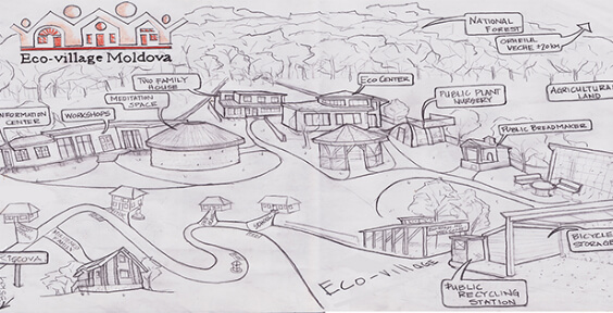 Moldova's eco-village to combat the direct impact of climate change