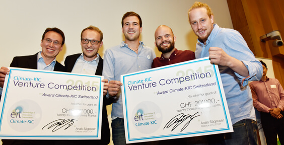 Sustainable food and electricity distribution start-ups win CHF 20K each at Swiss Venture Competition