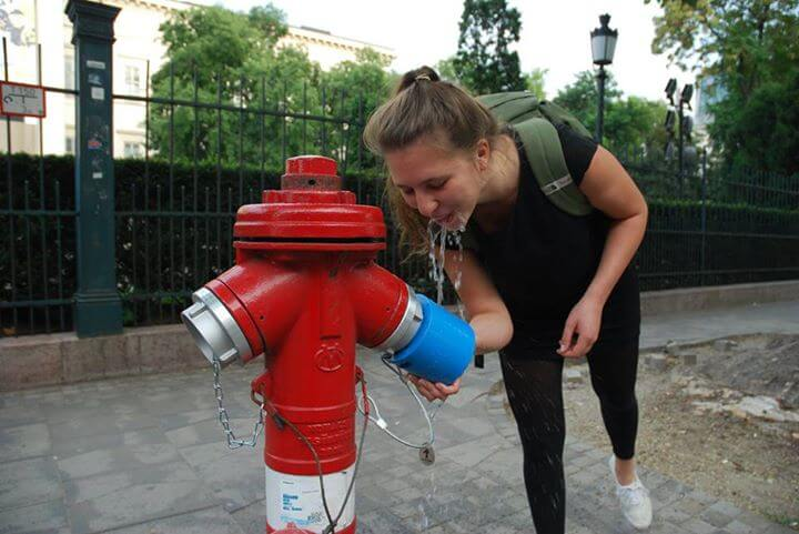 Hungarian start-up converts fire hydrants into drinking fountains with a single click