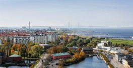 View from Malmö showing the Øresund Bridge.  Johan Wessman