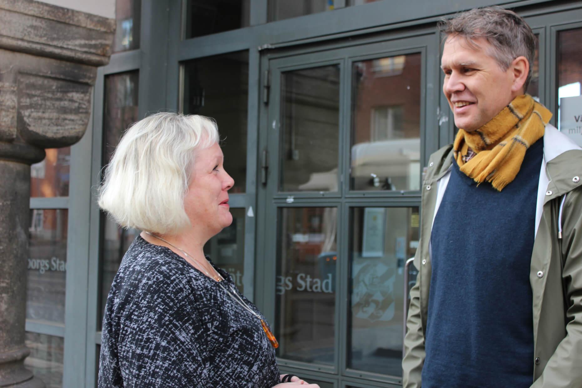 Anna Ledin, Director of the Environmental Administration in the City of Gothenburg, and  Svante Sjöstedt, Environment Analyst, Photo: Vivianne Rosqvist