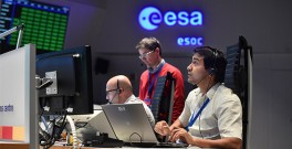 Staff at ESOC Darmstadt during the launch of the Sentinel-3A satellite on 16 February 2016. Photo: ESA/J. Mai