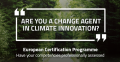Are you a change agent in climate innovation?